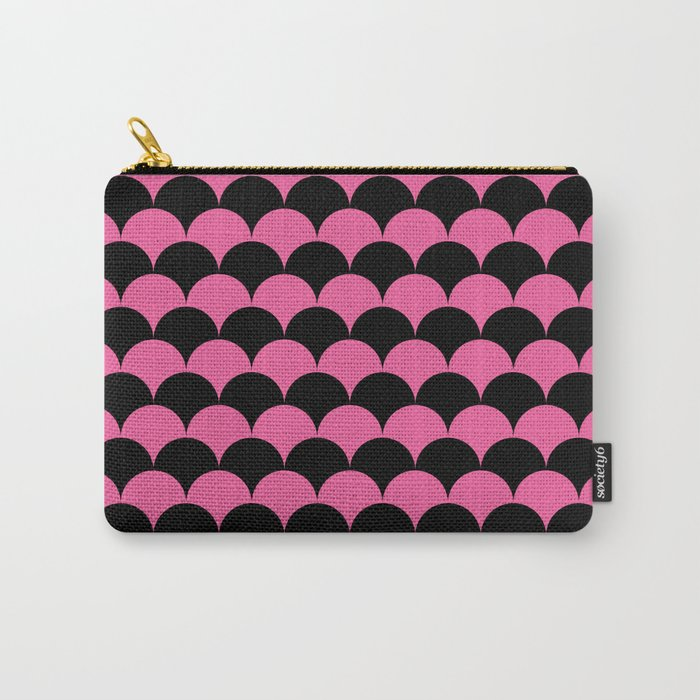 Pink & Black Scales Pattern Carry-All Pouch