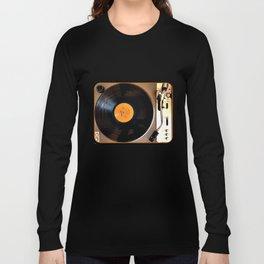 Vintage Pioneer Turntable Long Sleeve T-shirt