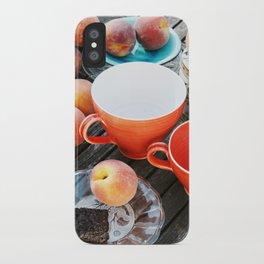 Peaches at teatime iPhone Case