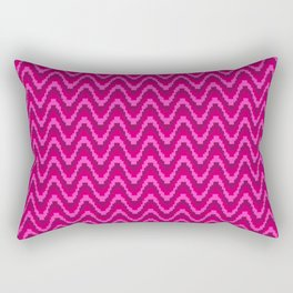 Mod Red Pink Bargello Stripe Rectangular Pillow