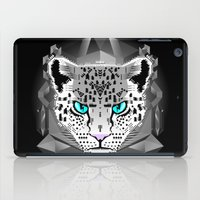 snow leopard iPad Cases featuring Snow Leopard by chobopop