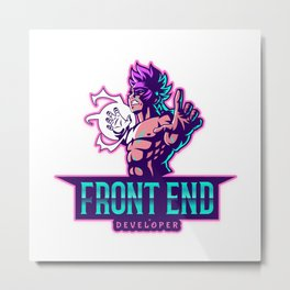 The power of a Front End Developer Metal Print