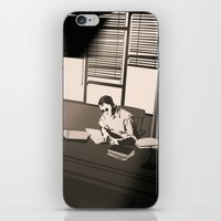 the office iPhone & iPod Skins featuring Quill's Office by Andrew Formosa