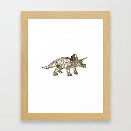GOLD TRICERATOPS Framed Art Print