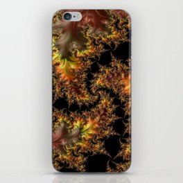 Autumn Leaves yellow brown orange Fractal iPhone Skin