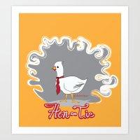 hen&tie Art Print