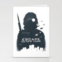 tintin Stationery Cards featuring John Carpenter's Escape From New York by Alain Bossuyt