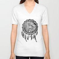 dream catcher V-neck T-shirts featuring Dream Catcher by Astrablink7
