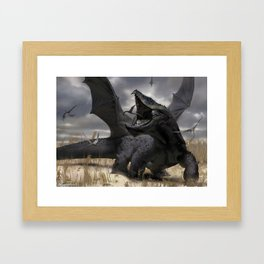 Dragon Hunt Framed Art Print