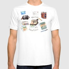 Document Your Adventures Mens Fitted Tee White MEDIUM