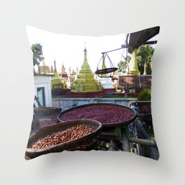 View from the Nunnery, Myanmar Throw Pillow