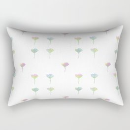 Watercolor Daisy Pattern Rectangular Pillow