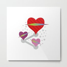 Share love #society6 #decor #buyart #artprint Metal Print