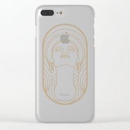 Girl Art Deco 01 Clear iPhone Case