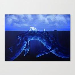 Iceberg Dragon Canvas Print