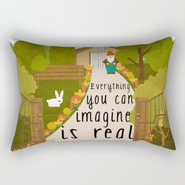 Everything you can imagine is real 1 Rectangular Pillow