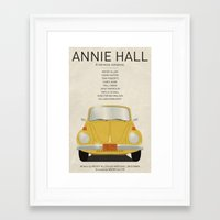 annie hall Framed Art Prints featuring Annie Hall tribute poster by kinographics