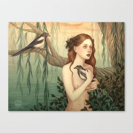 One for sorrow, two for joy Canvas Print