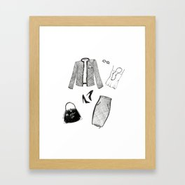 Monday Fashion Illustration Outfit Framed Art Print