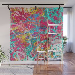 Abstract Painting with Texture Wall Mural