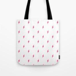 Lightning Bolt Pattern Pink Tote Bag