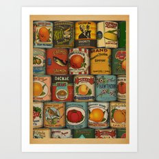 Canned in the USA Art Print