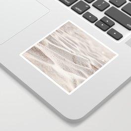 Sand Photography, Beach Photograph, Coastal Photo, Cream Beige Brown Neutral Sticker