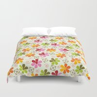 daenerys Duvet Covers featuring Flowers Pattern                       by albert Junior