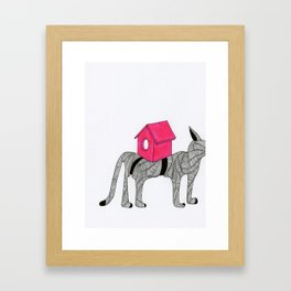 Cat-Snail Framed Art Print