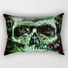 Green skull Rectangular Pillow