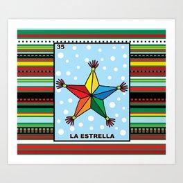 Christmas Loteria La Estrella Art Print