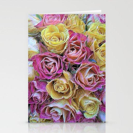 Vintage Paper Roses Stationery Cards