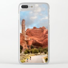 A Ride in Kodachrome Basin State Park close to sunset Clear iPhone Case