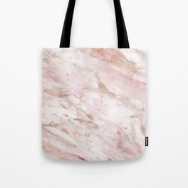 Pink marble - rose gold accents Tote Bag