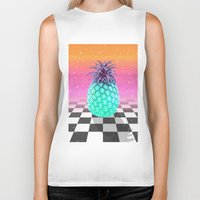 pineapple Biker Tanks featuring Pineapple by Danny Ivan