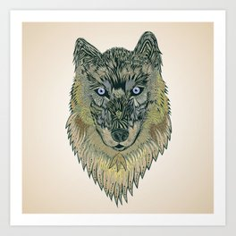 The wolf of your dreams Art Print