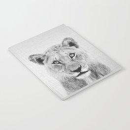 Lioness II - Black & White Notebook