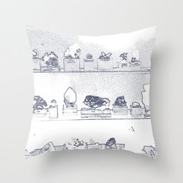 Mineral City II Throw Pillow