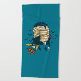 Spooky Pancake Beach Towel