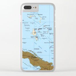Map of The Bahamas (1986) Clear iPhone Case