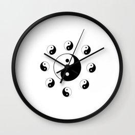 Yin and Yang 11 - Tao,Zen,Taoism,Dao,Harmony,religion,buddhism,buddhist,taijitu,taiji,taoist,china Wall Clock