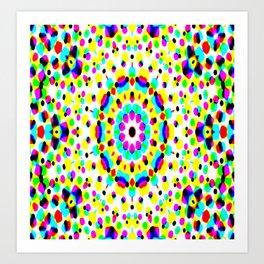Colorful Dot Fantasy Art Print