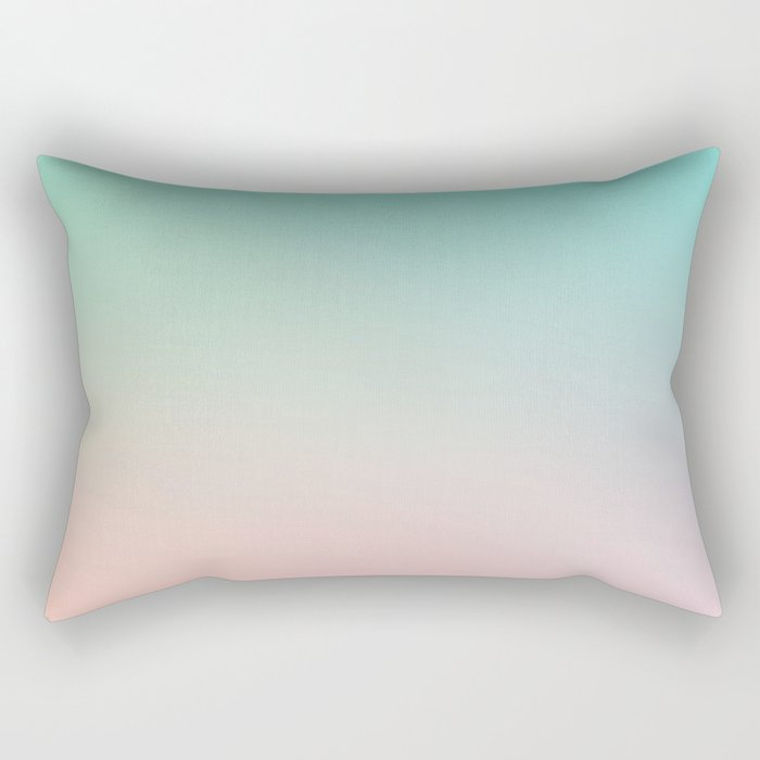 HEAVY RAINS - Minimal Plain Soft Mood Color Blend Prints Rectangular Pillow