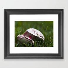 Broken Baseball  Framed Art Print