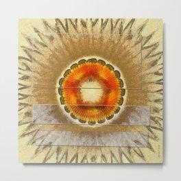 Barbicans Fancy Flower  ID:16165-031133-58551 Metal Print