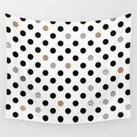 dot Wall Tapestries featuring Black Dot by Georgiana Paraschiv