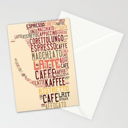 many types of coffee Stationery Cards