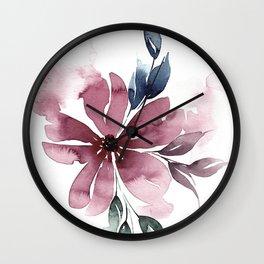 Modern Watercolor Florals No. 5 Wall Clock