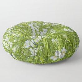 Wild Woodland Anenomes Floor Pillow