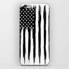 Black American Flag iPhone Skin
